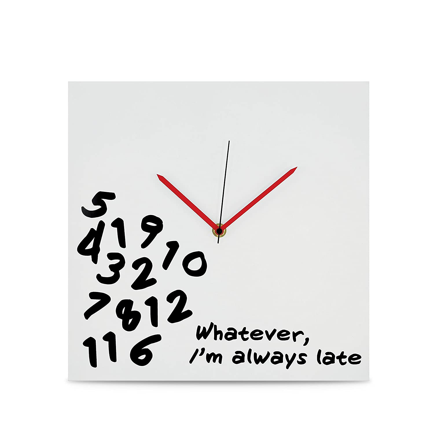 """I'm Always Late"" Wall Clock"