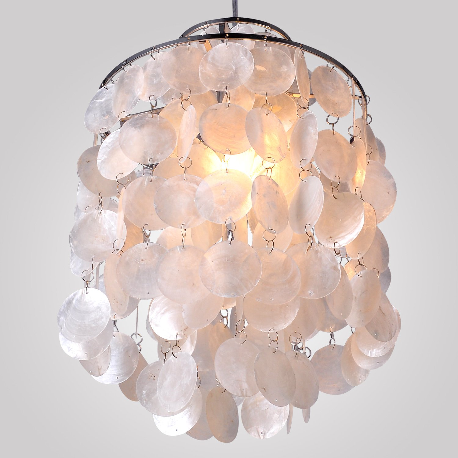 White Shell Chandelier light collections Light Ideas