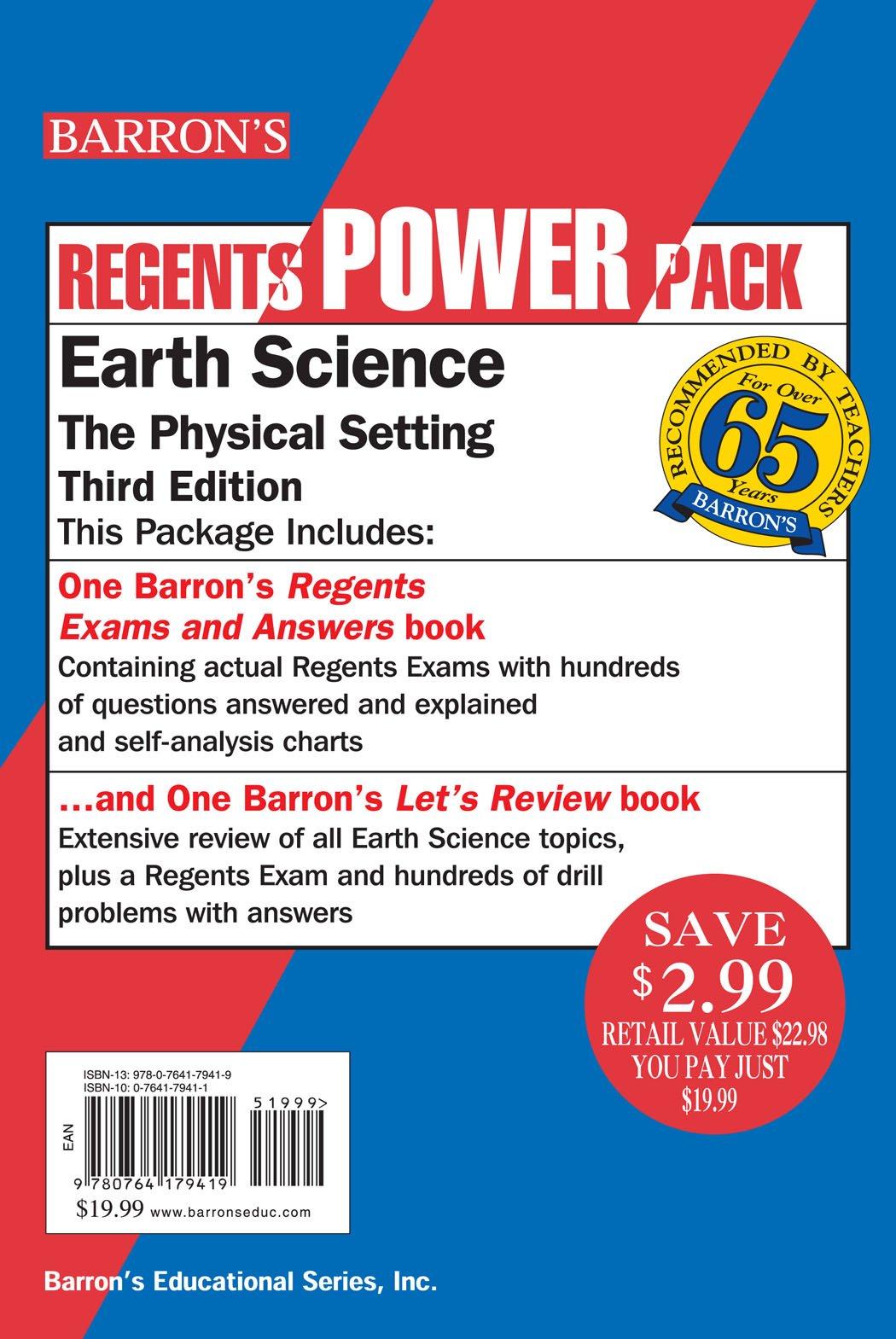 Download Earth Science Power Pack (Regents Power Packs) pdf epub