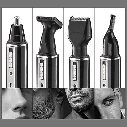 Toyofmine Rasuradoras Eléctricas de 4 en 1 Recargable Grooming Kit  multifuncional Barba Bello Nariz Clipper 65ad3fd597bb