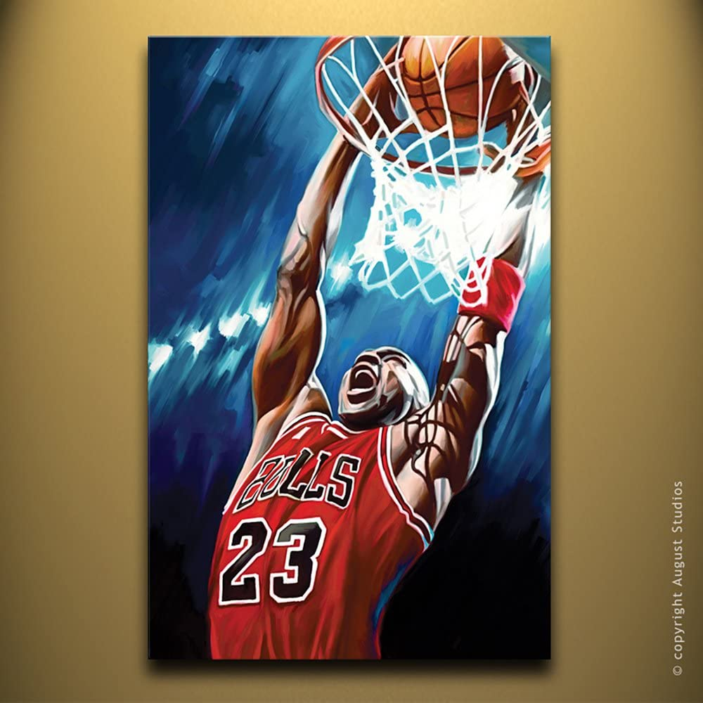 Michael Jordan Baloncesto NBA Arte original. Artista firmada ...
