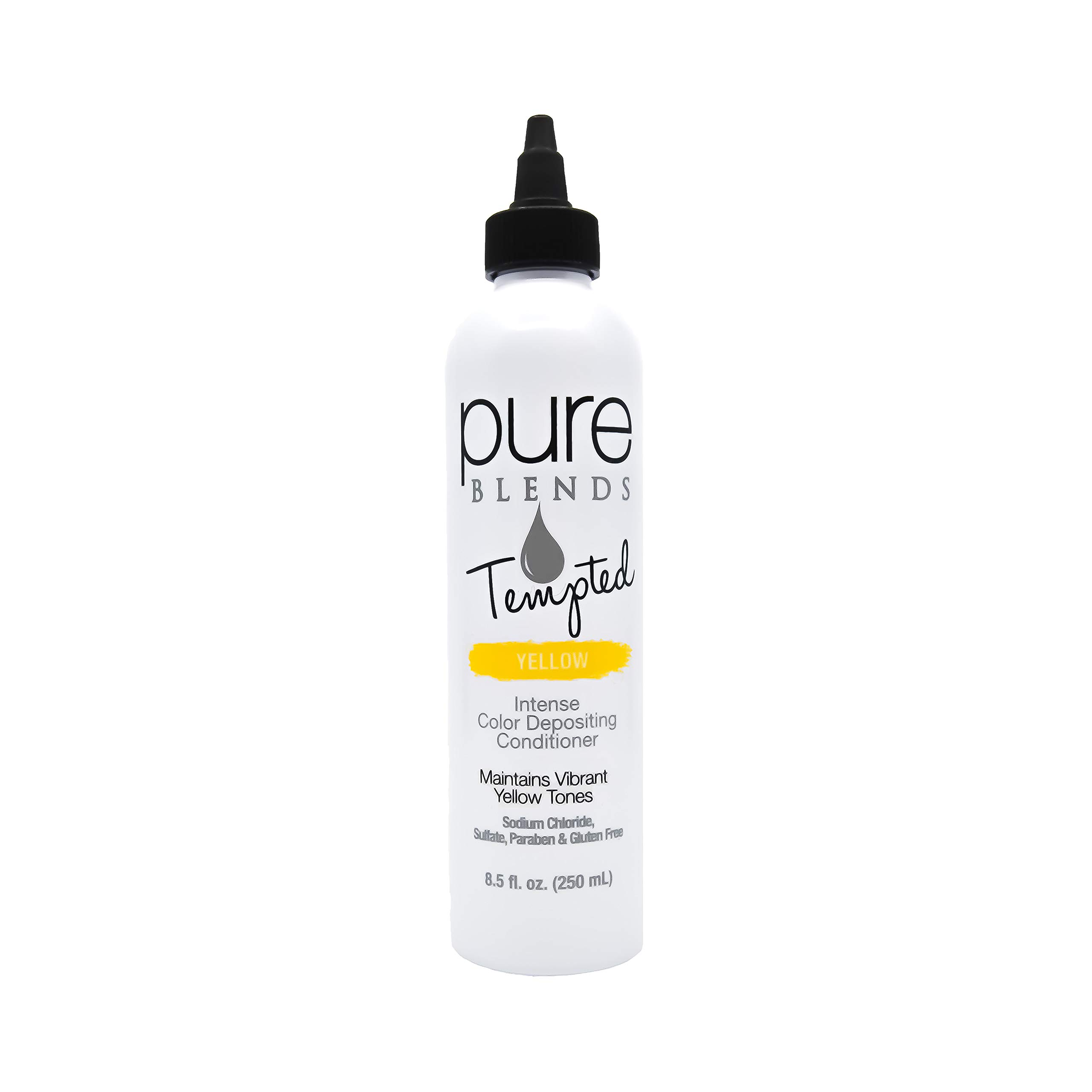 Pure Blends Tempted Intense Color Depositing Conditioner - Yellow (Vibrant Yellow Tones) 8.5 Ounce - Salon Quality by Pure Blends