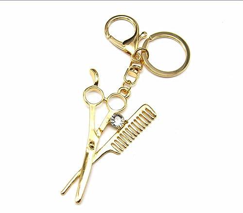 PT813E – Llavero, joya para bolso, diseño de tijeras y peine ...