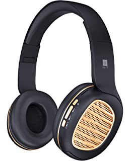 6a926adc2c8 iBall Decibel BT01 Smart Headset with Alexa Enabled (Black and Gold)