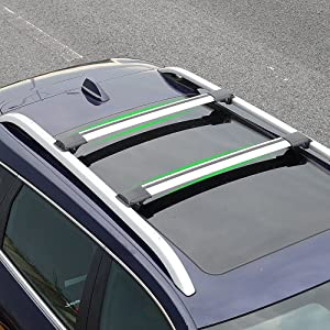 Kust xlj5591w Car Roof Rack Crossbars, Aluminum Alloy Roof Rack Cargo,Pack of 1 Pair of Luggage Carrier Cargo Cross Bars fit for SUV