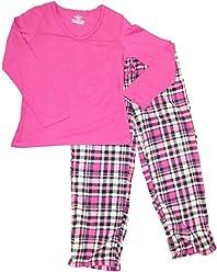 e16302f500 Womens Pink Plaid Pajamas Plaid Fleece Tartan Print Sleep Set