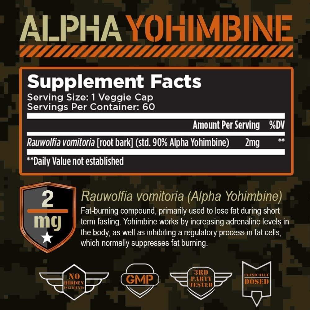 ultra burn 250 yohimbine stack fat burner