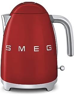 SMEG KLF01 Calentador de Agua electrico, hervidor KLF01RDEU, 2400 W, 1.7 litros,