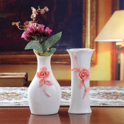 Amazon Set Of 2 European Ceramic Vase For Centerpieces Living