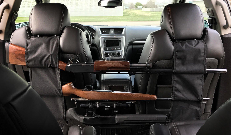 PRETTYGAGA Car Concealed Seat Back Gun Rack To Hold 3 Rifles
