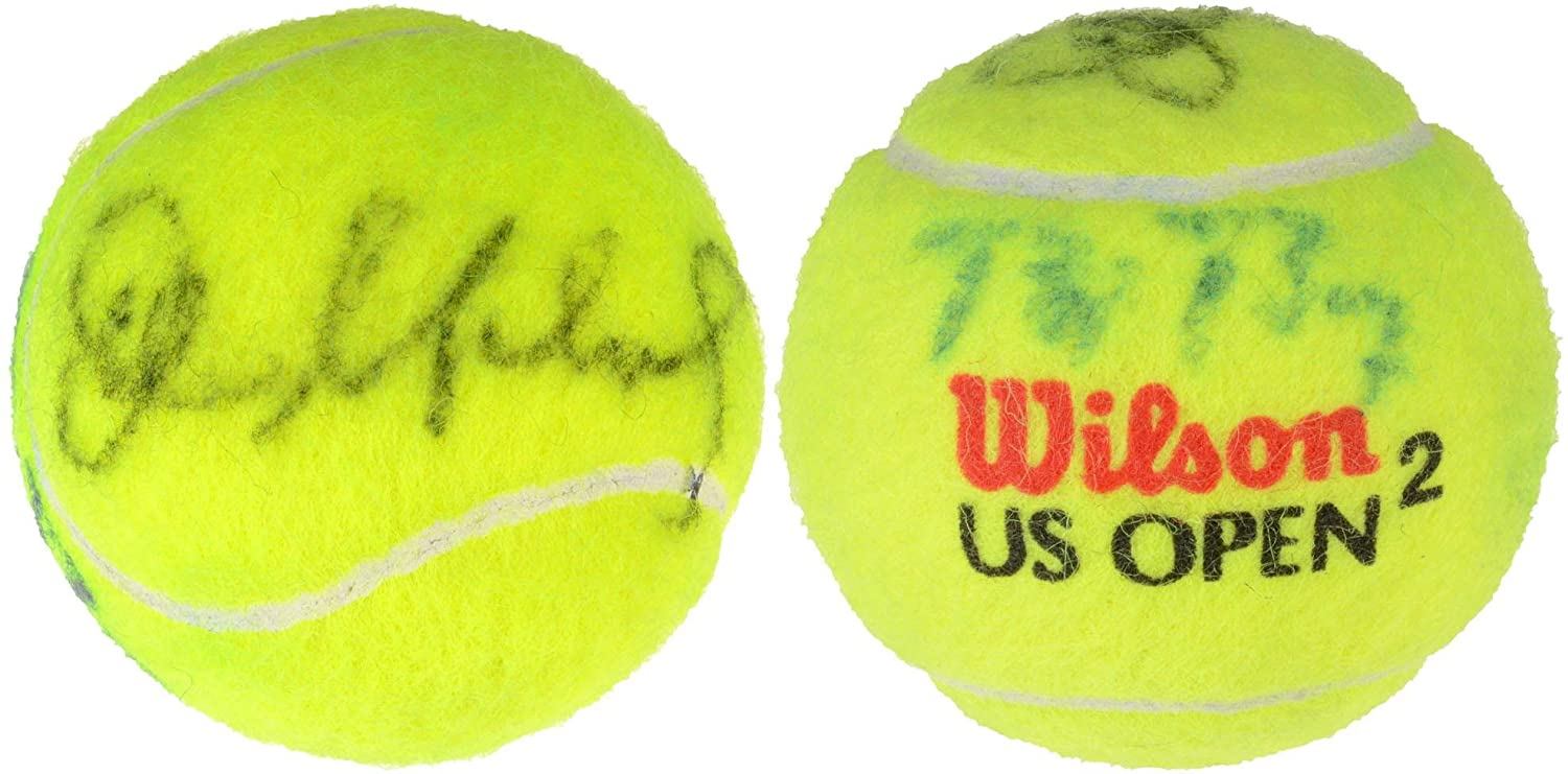 Bjorn Borg, John McEnroe Dual Signed Wilson US Open Tennis Ball - Fanatics Authentic Certified - Autographed Tennis Balls