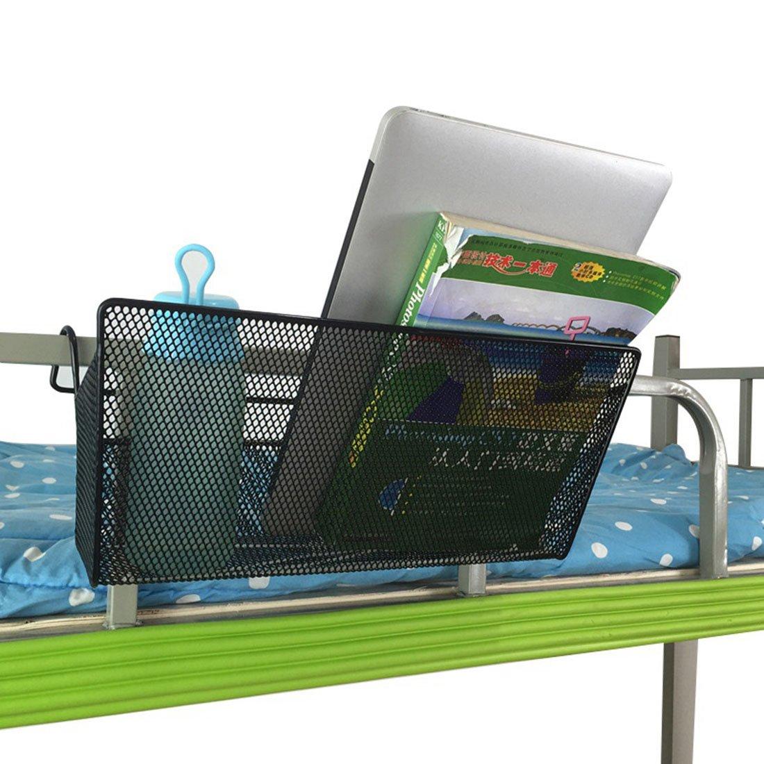 YUENA CARE Dormitory Bedside Storage Baskets Mesh Origanizer Caddy Table Hanging Organizer Black