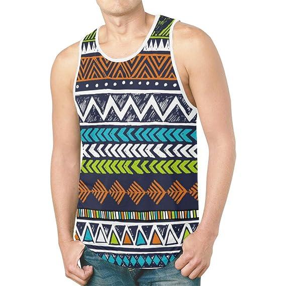 d73a6819 InterestPrint 3D Print Men's Tank Tops Sleeveless Shirt Gym Workout