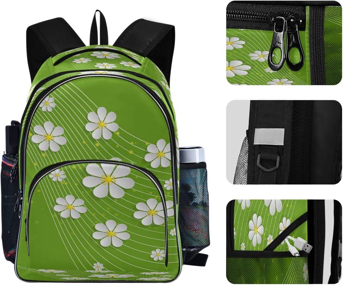 Laptop Backpacks for Women Men Little Daisy Large Rucksack Fit 17 Inch Computer Bookbag for School Business Travel Shopping