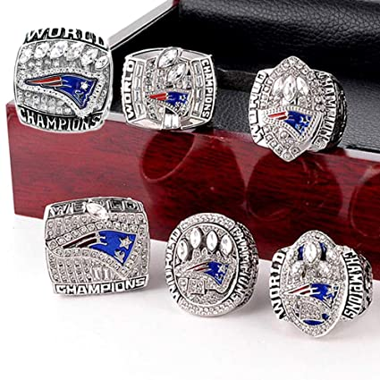 Amazon.com   MVPRING New England Patriots 6 Years Rings Set Super ... 62785956f