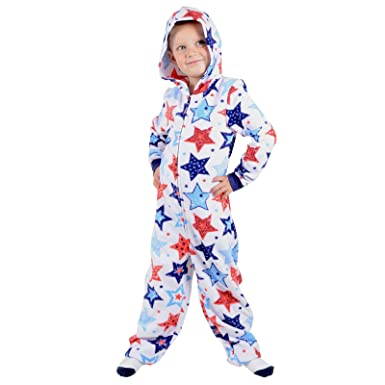 b5c4b8b4faa8e Roaster Toaster Boys Hooded Fleece All in One Piece Pyjamas Jump Sleep Suit  Onesie PJs Nightwear: Amazon.co.uk: Clothing