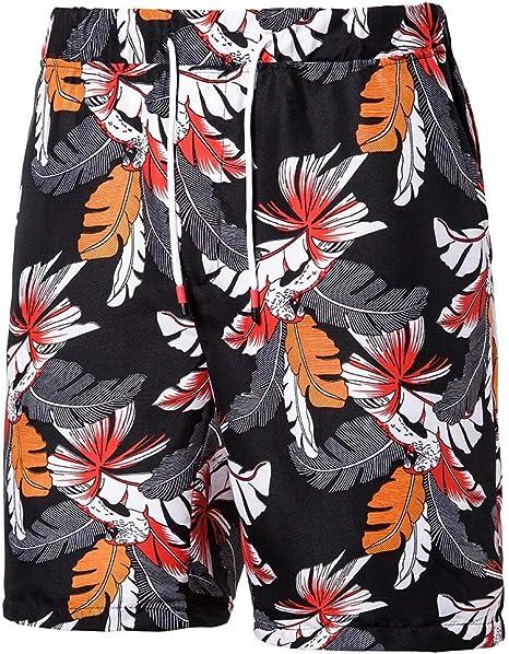 Estilo de Vacaciones Hawaiano Verano Hombres Pantalones Hawaii Vacaciones Hombre Pantalones Cortos de Playa Secado R/ápido Ba/ñador Estampado Beach Shorts El /último Modelo