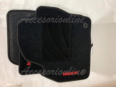 Juego Completo esterillas Anclajes Originales 6J Accesorionline Alfombrillas para Seat Ibiza 2008-2017 Todos los Modelos alfombras a Medida