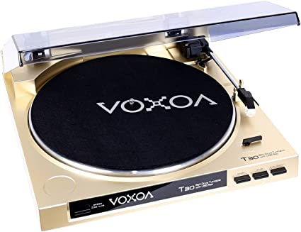 VOXOA T-30 Tocadiscos Tracción Correa Gold: Amazon.es: Electrónica