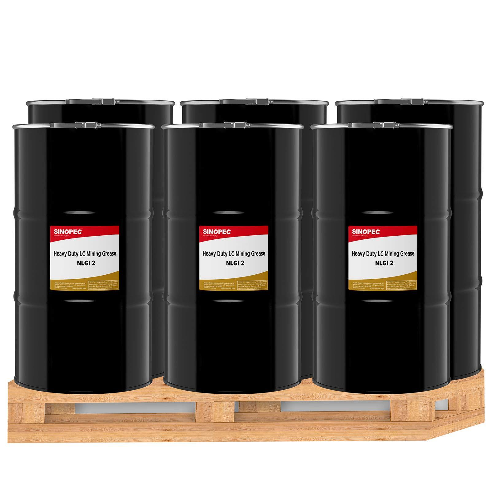 Sinopec Moly 5% EP High Temp Lithium Complex Grease, NLGI 2 - (6) 120LB. (16 Gallon) Kegs