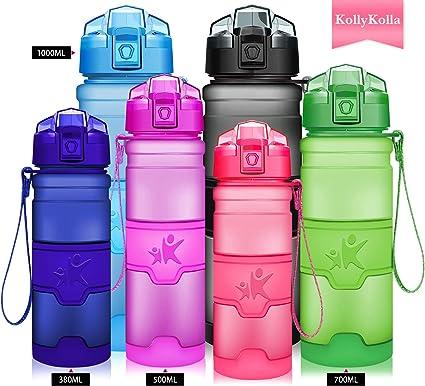 Enfants Bébé 500 ml Boisson Bouteille d/'eau avec Métallique Couvercle Sangle BPA Free