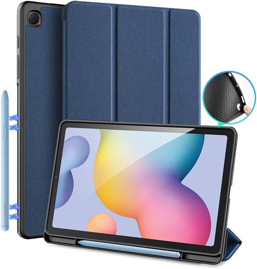 DUX DUCIS Funda para Samsung Galaxy Tab S6 Lite 10.4 (P610 / P615) 2020, Estuche de protección magnética Delgada con Soporte para S Pen para Tab S6 Lite 10.4 Pulgadas (Azul)