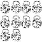 Pendentif en Alliage Forme de Diamant pour Fabrication de Bijoux Lot de 10pcs Couleur d'Argent