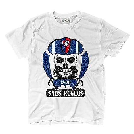 Camiseta camiseta hombre fútbol pirata Lyon Tifosi ultras Fans Sport Sans  Regles 2 549ba5b83a194