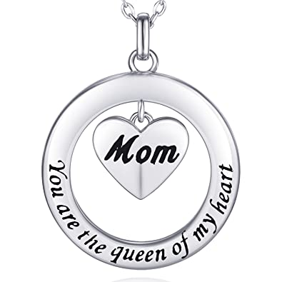 Amazon Com Billie Bijoux 925 Sterling Silver Engraved Love Necklace