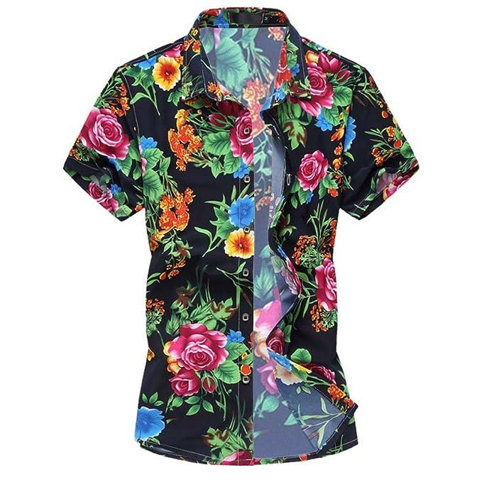 dbe0d22b9f1 para Hombre Hawaiian Floral Manga Corta Camisas - Vacaciones de natación  Tops con Forro de Malla, Hombre, Color 881, tamaño: Amazon.es: Ropa y  accesorios