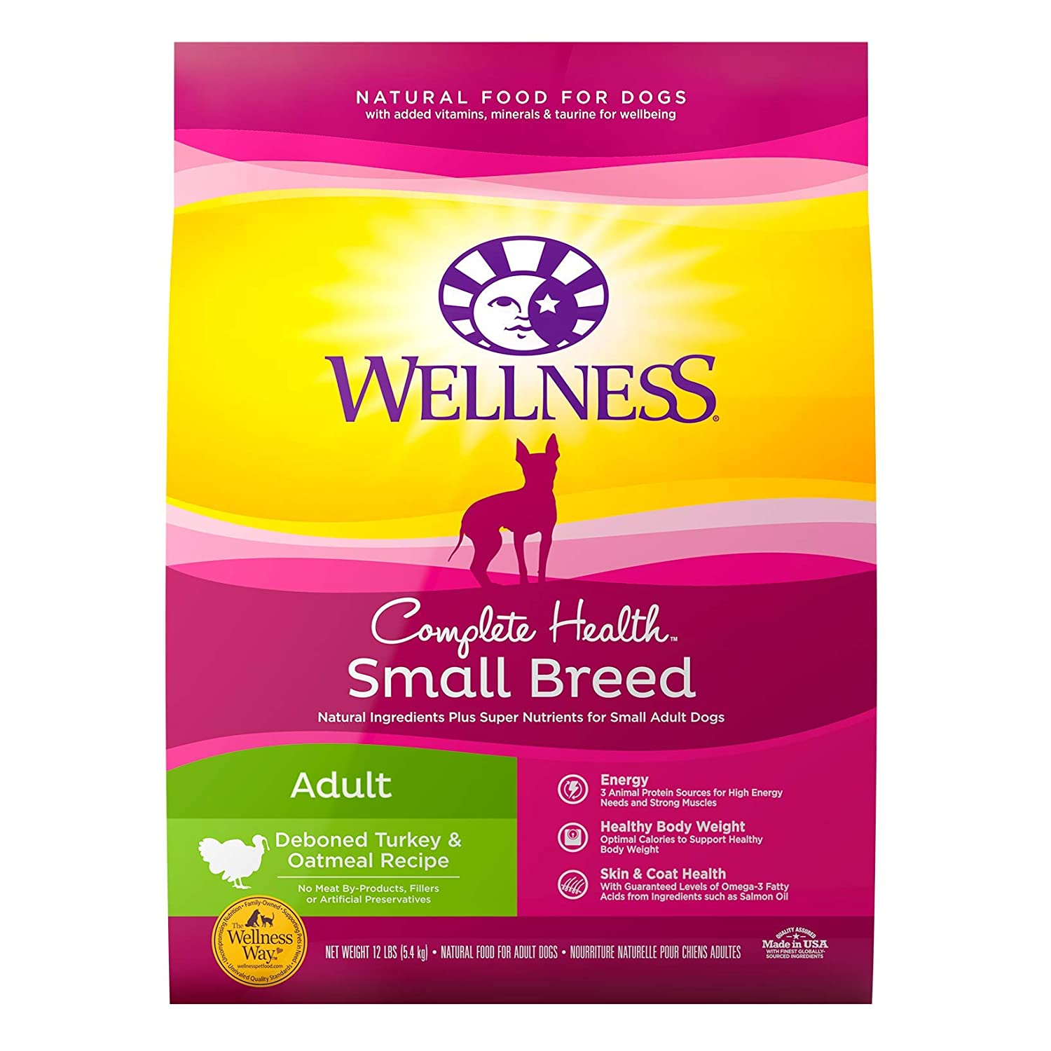 5.Wellness Complete Health Natural Dry Small Breed Dog Food