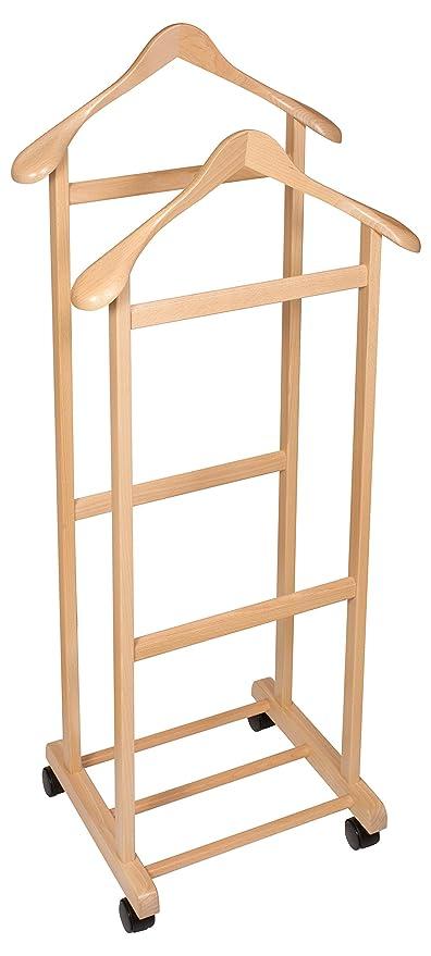 Hagspiel - Galán, perchero de madera de haya, barnizado ...