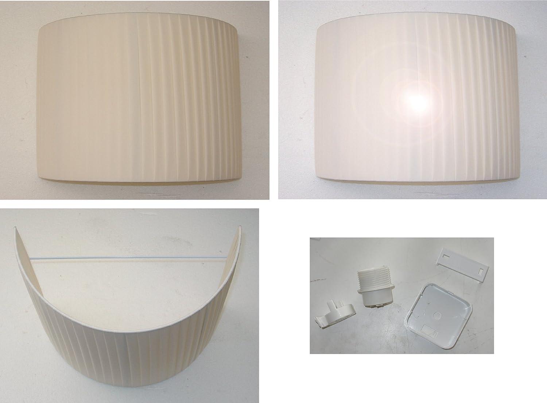 Applique lampada da parete a due luci paralume ventola cono ovale ...