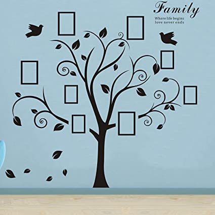 Large Family Tree Wall Decalsw787 X L787 Removable Diy Photo
