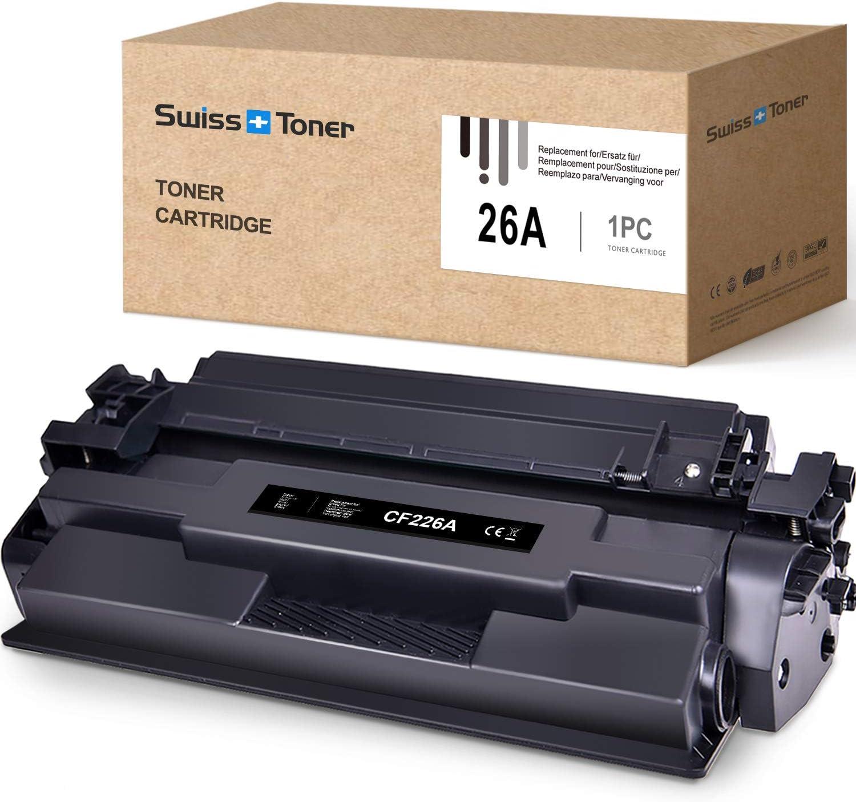 SWISS TONER CF226A Compatible para HP 26A CF226A Cartuchos de tóner para HP Laserjet Pro M402n M402dn M402dw MFP M426fdw MFP M426fdn Impresora,Negro