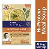 Saffola FITTIFY Gourmet Hi Protein Meal-Soup, Mexican Sweet Corn, 4 Servings, 244g