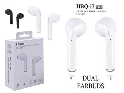 detailed look 05679 7589a HBQ i7 TWS Twins (Dual L/R) True Wireless Earbuds Mini Bluetooth V4.2+EDR  With 1 Connect 2 Function Support Stereo Sports Headphone for iOS & Android