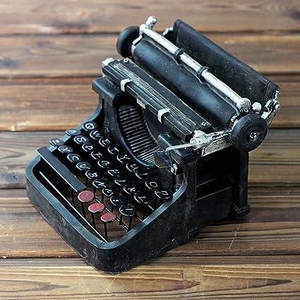 Kaige Adornos de escritorio Resina de ornamentos de máquina de escribir del Vintage tamaño: 19