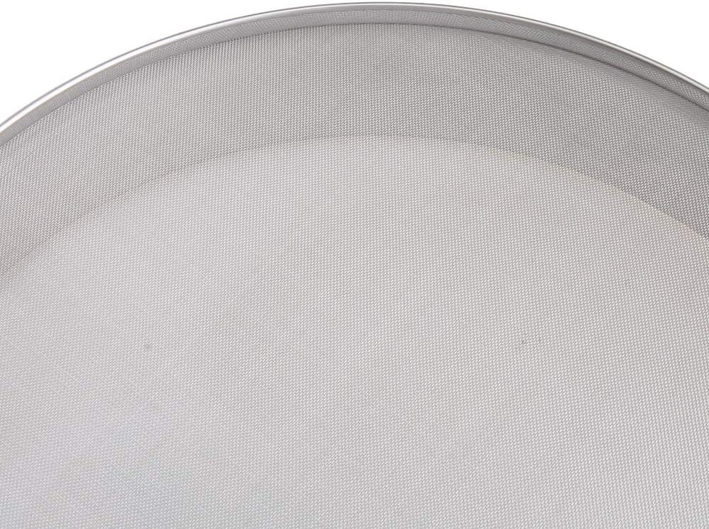 RDEXP Fine Mesh Flour Sieve Stainless Steel Round Sifter Dia 30cm 40 Mesh Sliver