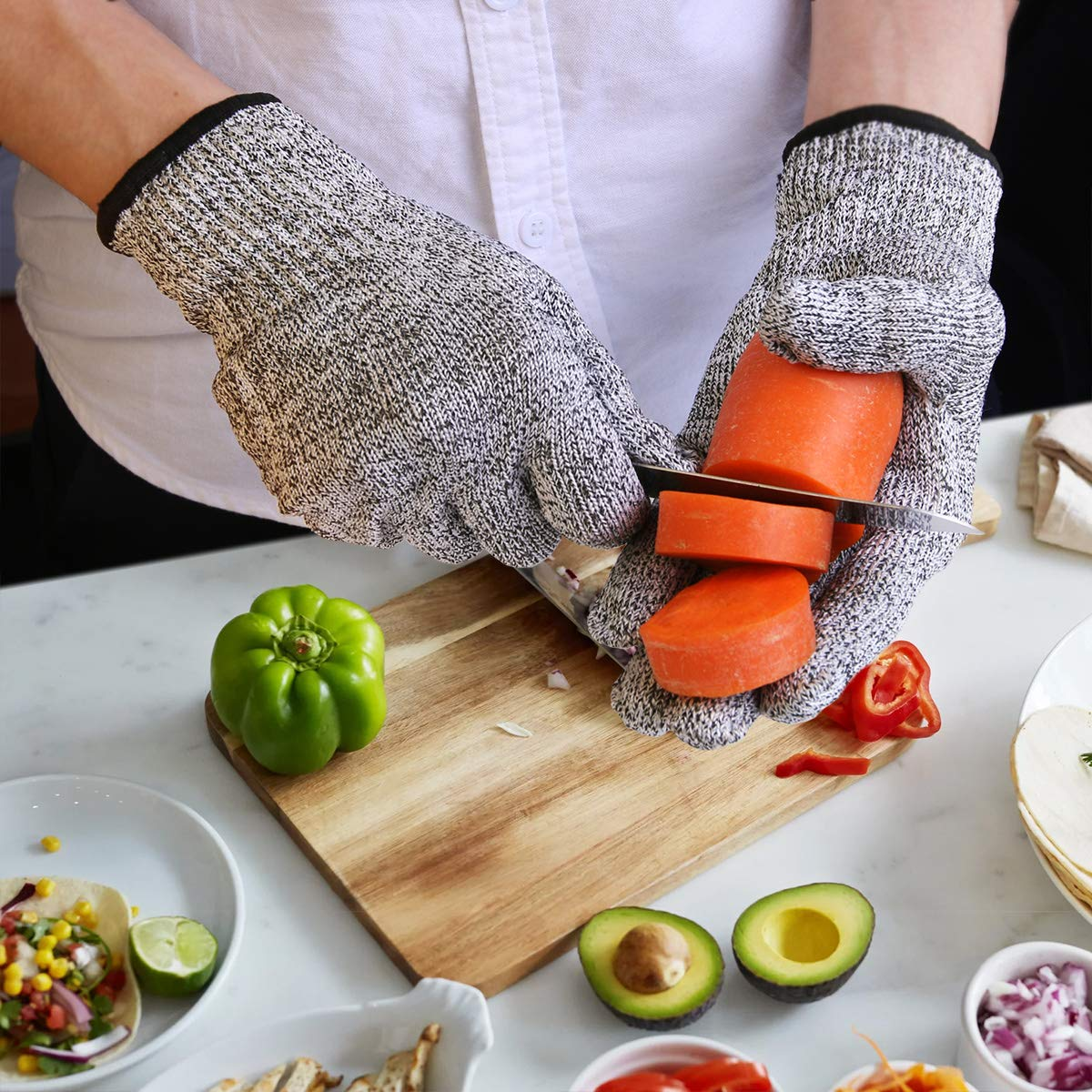 Oyster Shucking Knife Stainless Steel With High Performance Protection Food Grade Cut Resistant Gloves, Easy To Shucking Oysters (2pcs / set) by TechLeo (Image #6)