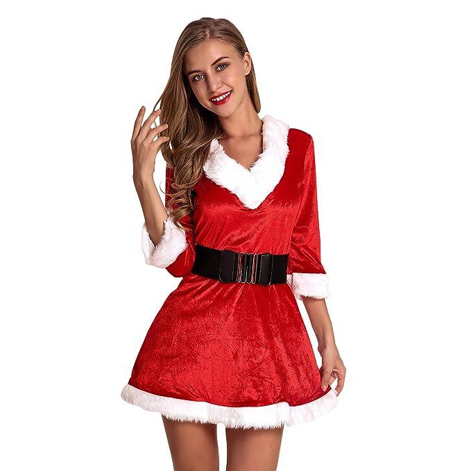 Amazon.com: Disfraz de Navidad para mujer de la marca ...