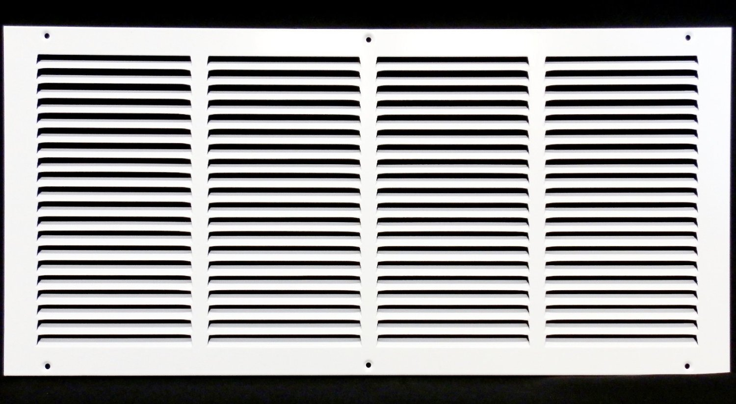 24''w X 14''h Steel Return Air Grilles - Sidewall and Cieling - HVAC DUCT COVER - White [Outer Dimensions: 25.75''w X 15.75''h]