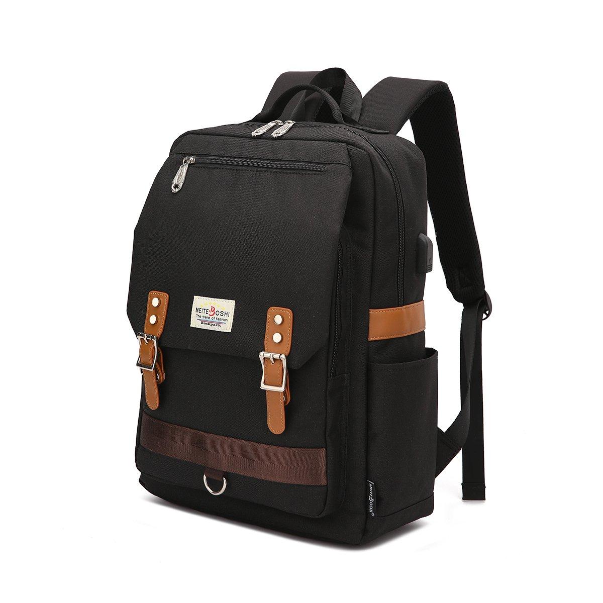 Mochila para portá til, mochila escolar para portá til de 15.6 pulgadas con puerto de carga USB para hombres y mujeres(verde) mochila escolar para portátil de 15.6 pulgadas con puerto de carga USB para hombres y mujeres(verde) MEITEBOSHI