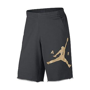 7abba783c29fd8 Nike Mens Air Jordan City Knit Graphic Shorts Charcoal Heather Metallic  Gold 835159-071 Size Medium