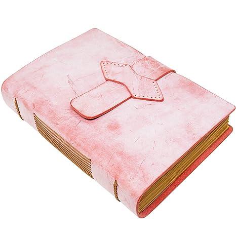Amazon.com: Cuaderno hecho a mano de piel envejecida, tamaño ...