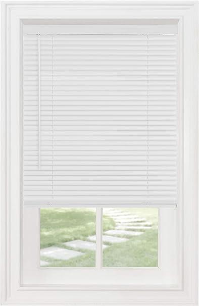 Cordless Window Blinds Blinds 1 Slats Light Filtering Vinyl Mini Blinds White 30 X 64 Length Amazon Co Uk Kitchen Home
