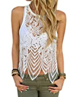 Outtop Women Sexy Lace Crochet Vest Tank Top Casual Sleeveless Blouse