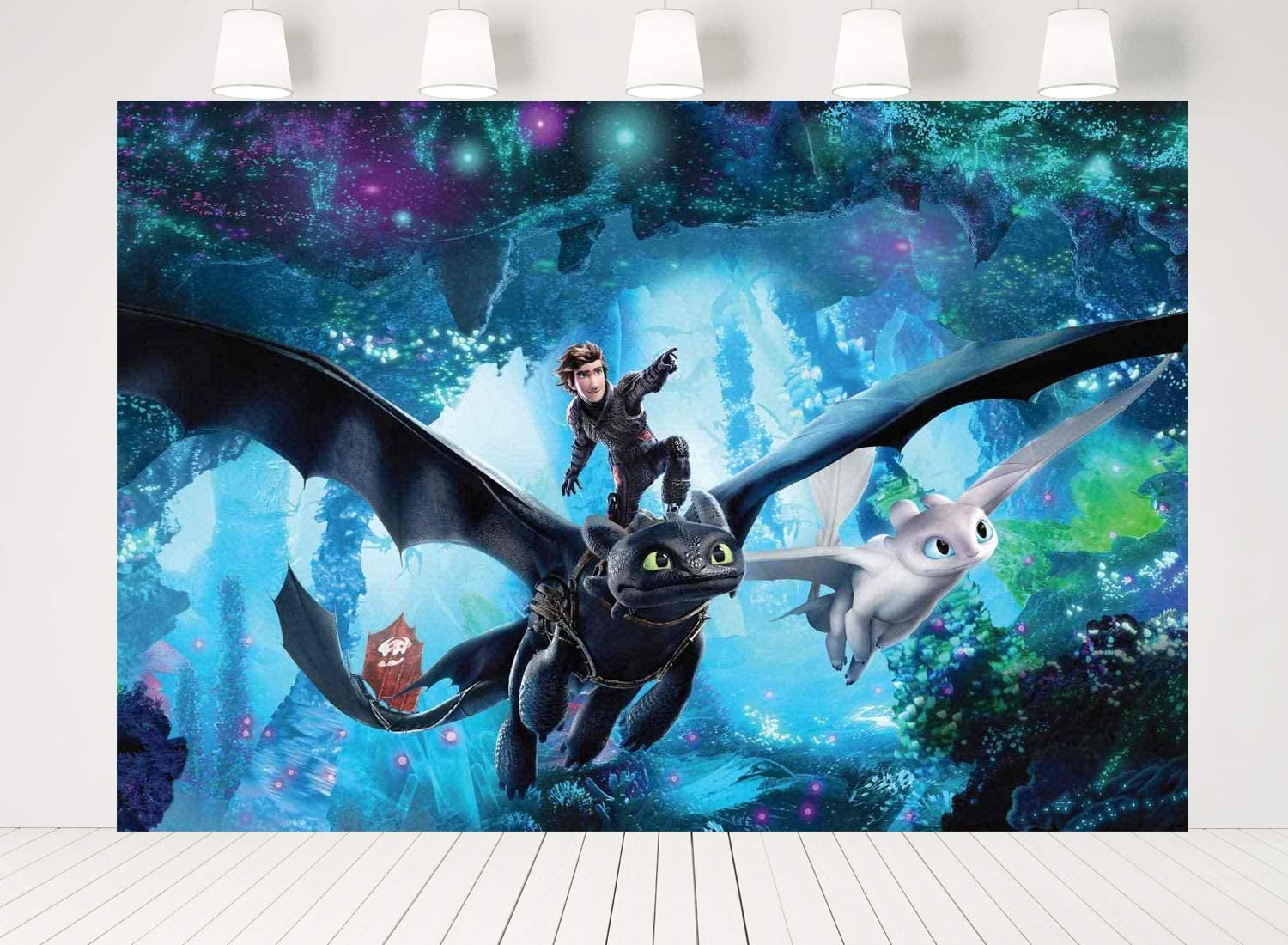 ERIC 7x5FT Vinyl How to Train Your Dragon Party Supplies Birthday Backdrop for Photography Kids Newborn Baby Shower Party Photo Background Photo Shoot Studio Prop LF067
