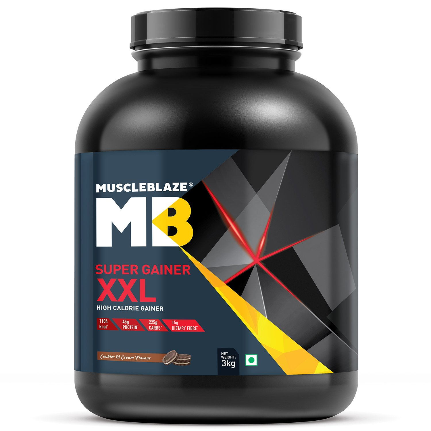 MuscleBlaze Cookies and and Cream Super Gainer XXL 66lbs3kg