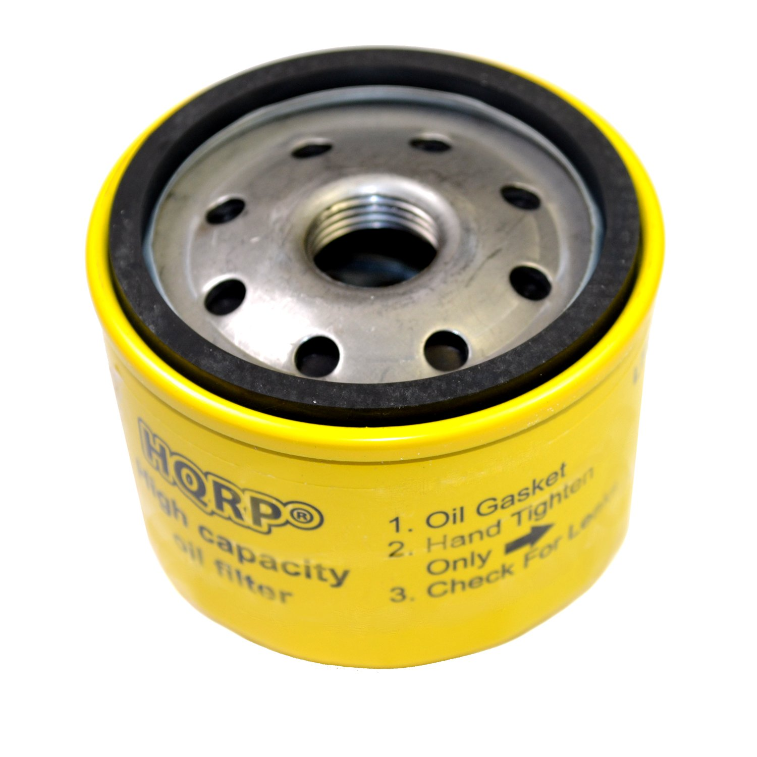 HQRP Oil Filter for Briggs & Stratton Professional Series V-Twin, Extended Life Series V-Twin Engines 23-30 gross HP, 696854 Replacement + HQRP Coaster